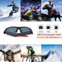 32 GB Gafas de sol Cámara Auriculares Deportes Reproductor de MP3 HD1080P Smart Mini Cámara Gafas con Auriculares Bluetooth Accesorios Deportivos