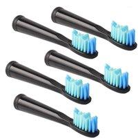 5 unids / set GAÍDOS DE DIENTÍN DE SEGURO PARA LASUNG SG-610 SG-910 SG-917 SG-917 Cepillo de dientes Reemplazo eléctrico Cepillo de dientes HEAD1