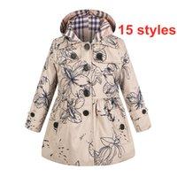 15 Arten baby mädchen kleidung einzeln breasted windbreaker mit Kapuze Tench Coats Lässige komfortable Mode Frühling Herbst Outwear E172