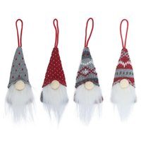 크리스마스 트리 얼굴없는 장식 크리스마스 수제 스웨덴어 그놈 스칸디나비아 Tomte 산타 북유럽 봉제 장난감 파티 호의 크리스마스 장식 FFA4509