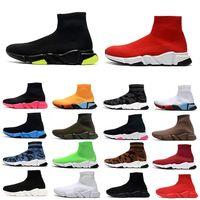 2021 fashion speed sock shoes trainer hombres mujeres zapatos para correr lurex knit graffiti camo negro rojo blanco amarillo para hombre zapatillas deportivas al aire libre