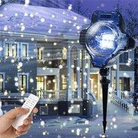 LED-Schneefall-Projektor-Lichter, funkelnde Landschaftsanlagen im Freien für Dekorationsbeleuchtung, Weihnachten, Party, Urlaub 201201