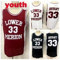 Envio de nós # Juventude Kids Mission 33 Bryant High School Basketball Jersey Todos Costurados Vermelho Vermelho Branco Tamanho Preto S-XL Alta Qualidade