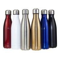 Esporte de garrafa de água de aço inoxidável para água isolada Flask de vácuo Cola Portátil Viagem Ao Ar Livre Thermos 500/750 / 1000ml 201105