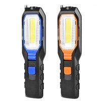 Портативные фонарики Светодиодные рабочие льготы USB Аккумуляторная рабочая гибкая магнитная лампа аварийного света горелка LANTERNA1