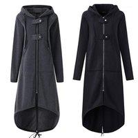Frauen Trenchcoats Frauen Herbst Mantel Reißverschluss Baumwolle Mit Blick Lange Ärmel Weibliche Windjacke Plus Größe Ser881