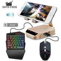 안드로이드 전화 게임 패드를 들어 DataFrog PUBG 모바일 키보드 마우스 블루투스 변환기와 스탠드