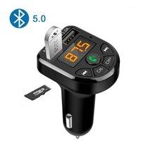 E5 Coche Bluetooth 5.0 FM Reproductor de MP3 Transmisor Wireless Handshree Receptor de audio TF 3.1A CARGADOR FAST USB Accesorios para automóviles1