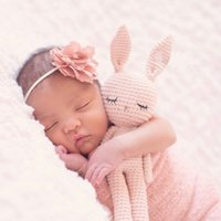 2020 새로운 수제 크로 셰 뜨개질 모직 인형 양모 동물 박제 봉 제 장난감 아기 진정 아기 아기 잠자는 인형 LJ201126
