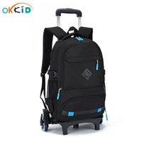 Okkid Kinderwagen-Schultasche abnehmbare Roll-Rucksäcke für Kinder Student großer Schulrucksack für Boy Dropshipping y0119