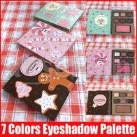 Лицо Макияж Рождественский подарок Тени Eggnog LATTE Peppermint MOCHA Gingerbread COOKIE 7 Color Eyeshadow Blush Palette 3 Стили