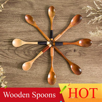 High Quality Wooden Spoons Tea coffee Milk Honey Tableware K...
