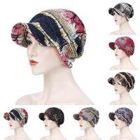 Beanie / Kafatası Kapaklar Moda Geniş Brim Güneş Şapka Pamuk Başörtüsü Türban Kafa Wrap Saç Dökülmesi Kemo Kap Başörtüsü Kadınlar için Kapak Visor Sarar11