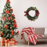 """12 """"ABD'den Gönderilen Artisasset Bir Noel Çelenkle Elma ve Ahududu ile süslenmiş bir Noel çelenk Wholeshell siparişleri için temas"""
