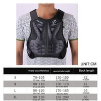 Adult Dirt Bike Body Armor Protective Gear Chest Back Protec...