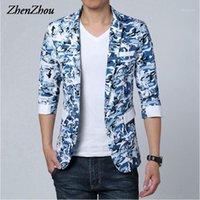 Zhenzhou 2017 Nouvelle arrivée automne Hommes Blazers Plus Taille Marque Mens camouflage Blazer M-5XL 6XL Hommes costume Slim Fit Blazer1