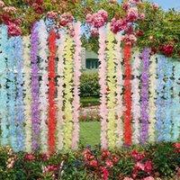 1 متر سلسلة الاصطناعي الزهور الحرير الوستارية زهرة كرمة diy المنزل الزفاف الديكور شنقا جارلاند جدار خلفية وهمية flower1