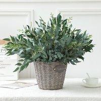 Fiori artificiali piante artificiali decorazione della casa ramo salice foglie di vimini fiori foglie finte foglie verdi piante1
