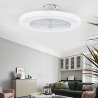 I moderni ventilatori a soffitto con luci a LED dimming con telecomando luci ventilatore Living ventilatore a soffitto camera da letto 110V 220V chiusa