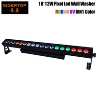 바 빛을 실행 TIPTOP 무대 조명 DMX512 야외 18x12W LED 벽 세탁기 빛 1m 길이 선형 주차 흔들림 없음 알루미늄 하우징 픽셀