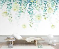 Duvar Kağıtları Nordic Mural Yeşil Ağacı Yaprak Duvar Kağıdı 3D Oturma Odası Yatak Odası Duvar Resimleri Için Kağıtları Ev Dekorasyonu Için Özel1
