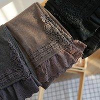Lamtrip outono inverno gótico laço ponto lace borda patchwork leggings lolita mori menina 201103