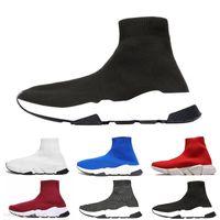 Balenciaga Speed Trainer Schuhe Socken Plattform beiläufige Triple Red Bule weiß Flache Frauen der Männer Sport-Turnschuhe Art und Weise Größe 36-45 c13