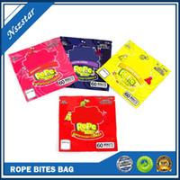 Nerds Seil Bites Tasche Neueste leere quadratische gummi medizinische Mylar Bag Verpackungsbeutel für Lagerhandel