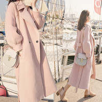 warm cotton filling cashere coat winter new 2020 pink woolen...
