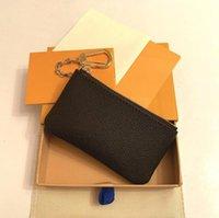 키 파우치 Damier 가죽 고품질의 유명한 클래식 디자이너 여성 키 홀더 코인 지갑 작은 가죽 열쇠 돈 지갑 4 색