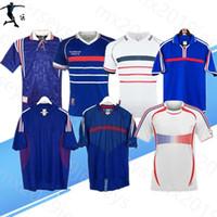 1982 1998 2010 Versão Retro França Jersey 98 02 06 Zidane Henry Maillot de pé Camisa de futebol 2000 Home Trezeguet Futebol Uniforme