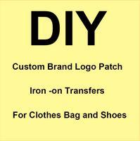 Özel Marka Logosu Yamalar Sıcak Düzeltme Sticker Isı Transferi Sıcak Damgalama Giyim Çanta Demir On Yama Özel İşlemeli Bölüm