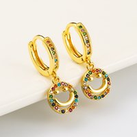 American European copper gold plated cz stone earrings for women 2020 new arrival luxury latest fashion jewelry wholesale