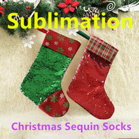 Sublimation Christmas Sequin Stocking 3 Sizes & 11 Colors Ch...