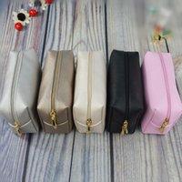 1 pc Leather Zipper Cosmetic Bag Mulheres Simples Viagem Beauty Caso Portátil Wash Makeup Bag Make Up Organizer Titular dropshipping