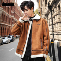 Men Thick Fleece Parka Jacket Bomber Coat Male Winter Warm Outerwear Fashion Winderproof Clothes Zipper Up