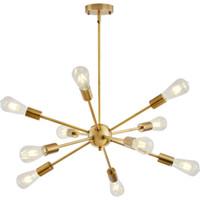 Sputnik Kronleuchter Messing Moderne Pendelleuchten Antike Gold Industrial Treppenbeleuchtung Leuchten 10 Arme gebürstet Nickel Black Tube
