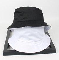 Cloches Due lato reversibile nero bianco secchio solido cappello unisex chapeau moda pesca escursionismo bob cappucci donne uomini panama estate