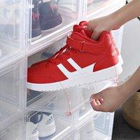 كرة السلة حذاء مربع جديد امتصاص المغناطيسي شفاف مربع الحذاء مجموعة عرض مجلس الوزراء سميكة مصمم الأحذية تخزين مربع