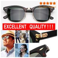 Moda Vintage Sunglasses Womens Sunglasses Mens Sun Óculos Meia moldura des lunettes de soleil para homens com estojo de couro pacote de varejo