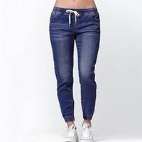 Woman' s Jeans Mid Waist Ladies Autumn Skinny Elastic Lo...