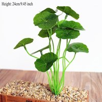 장식 꽃 화환 녹색 잎 식물 로터스 가짜 인공 잔디 실크 꽃 장식 홈 쏘지 1