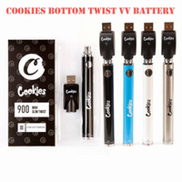 Cookies SF Schlank Twist Akku 900mAh Bottom Twist 3.3-4.8V vorheizen VV Cartridge Kalifornien Vape Blister Batterie-Feder für 510 Themen-Carts