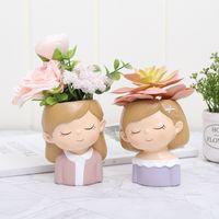 Amanti creativi Resina Flowerpot Piante succulente Piante Piante Piscina Mini Cactus Flower Pot Xmas Wedding Home Decora T9i001008 243 G2