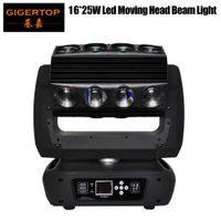 TIPTOP Yeni Tasarım Mirage Led Head Light 16 * 25W RGBW 4IN1 3 Derece Işın Açısı DMX 18/30 / 82CH Led Örümcek Işık Hareketli