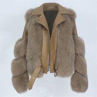 Oftbuy настоящая шуба жилет зимняя куртка женская натуральная лиса из натуральной кожи верхняя одежда съемный уличный локомотив Y201001