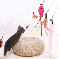 Pet Kedi Teaser Oyuncak Tel Dangler Değnek Tüy Peluş Balık Caterpillar İnteraktif Eğlenceli Egzersiz Oynama Oyuncak JK2012XB