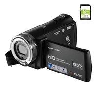 كاميرات الفيديو الرقمية كاميرا فيديو كاميرا فيديو عالية الدقة HDRO HDV-V12 1080P الأشعة تحت الحمراء للرؤية الليلية مع بطاقة SD 16G