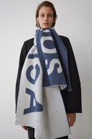 Mode-Studio Fallumbau Schal mit Schale für modischen, hig elegante Damenmode Schal / Akne Brief lange warmen Schal