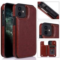 Wallet Case Luxury PU Leather Phone Back Cover With Card Slots For iPhone 12 Mini 11 Pro Max X Xs 8 7 Samsung Note 20 10 S20 S10e Ultra Plus